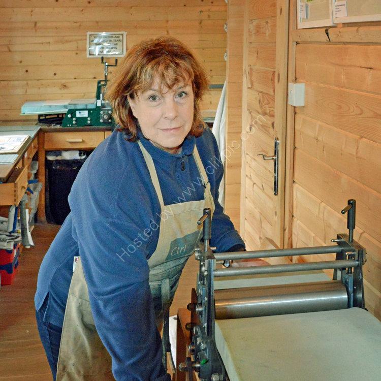 Suzie MacKenzie in her studio in east Sutherland