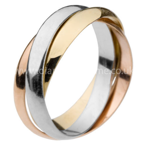 YELLOW, WHITE, ROSE GOLD RUSSIAN WEDDING RING