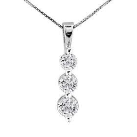 WHITE GOLD TRIOGY DIAMOND PENDANT