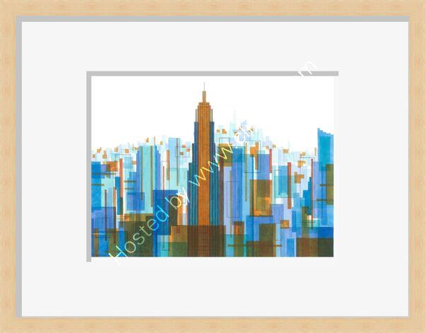Manhattan Impressions No.4 Giclee Print Framed