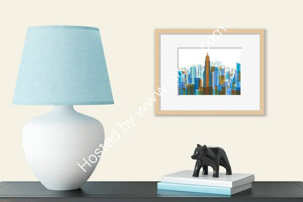 Manhattan Impressions No.4 In Room Framed