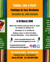 6-8 March 2018 Fountain Gallery 'Colour, Line & Form' invite back