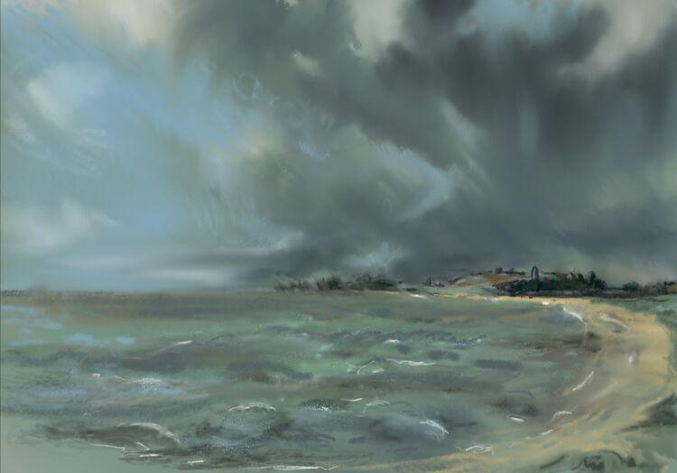 Stormy Sea, Harwich