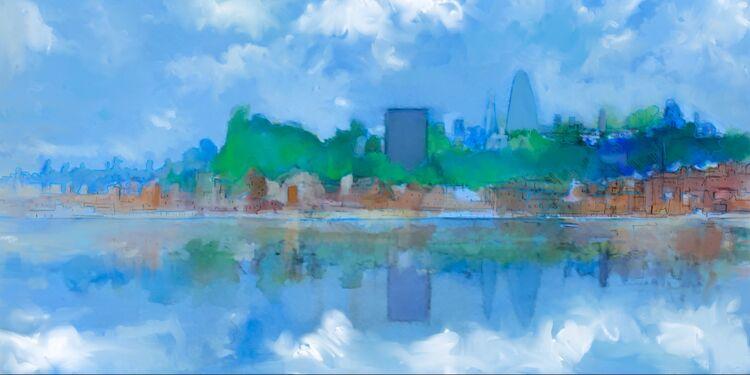 Digital drawing, London Skyline