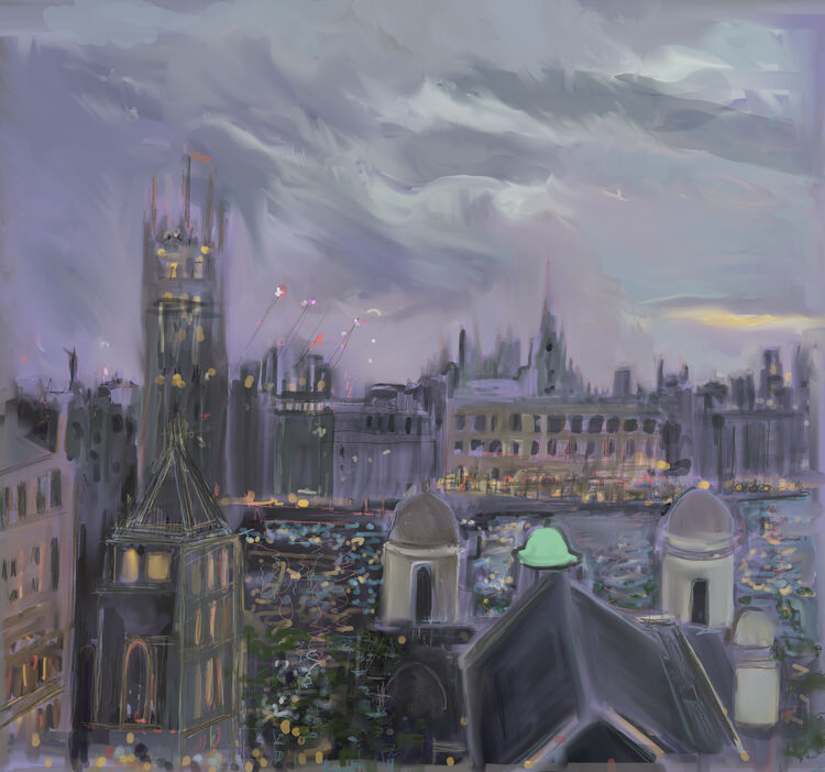 Digital drawing, View From St. Thomas's