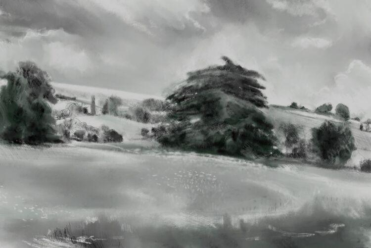 Digital drawing, Lullingstone, July