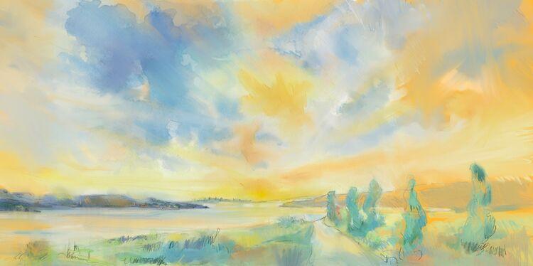 Digital drawing, Sunrise