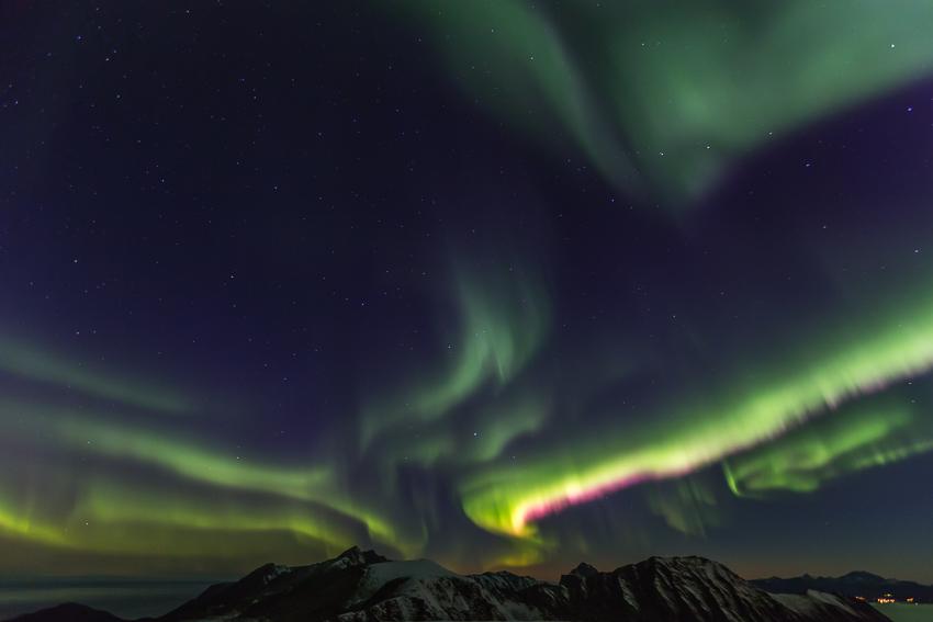Aurora borealis from mt Storheia