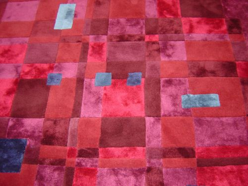 Jewels like coloured bespoke rug