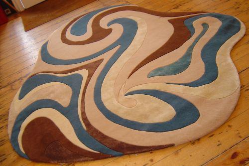 Swirly bespoke rug