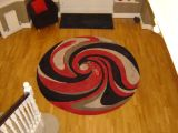 Hand tufted wool and viscose rug