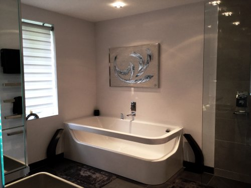 Commissioned artwork for a contemporary bathroom
