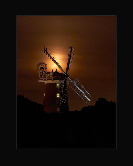 Moonset Over Cley Windmill (#104)