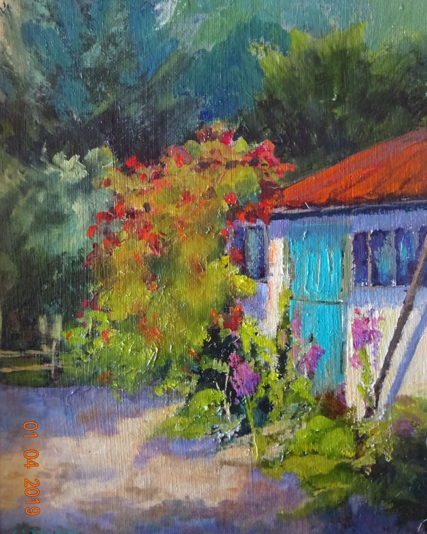 The Garden Shed with Blue Door