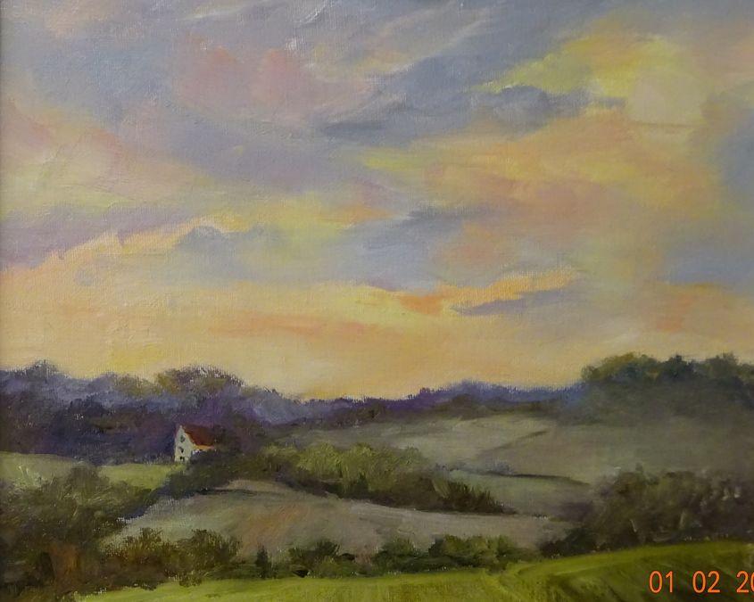 Winter sunshine near Debenham Suffolk