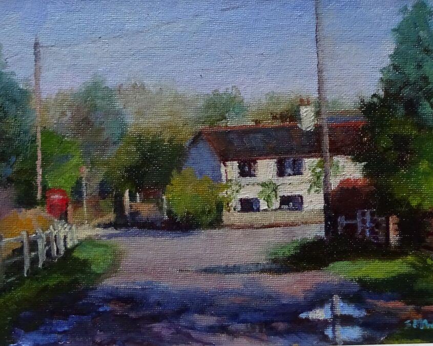Approaching Mill Lane ...Woodton.    SOLD