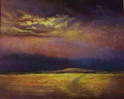Stormy sky over cornfield SOLD