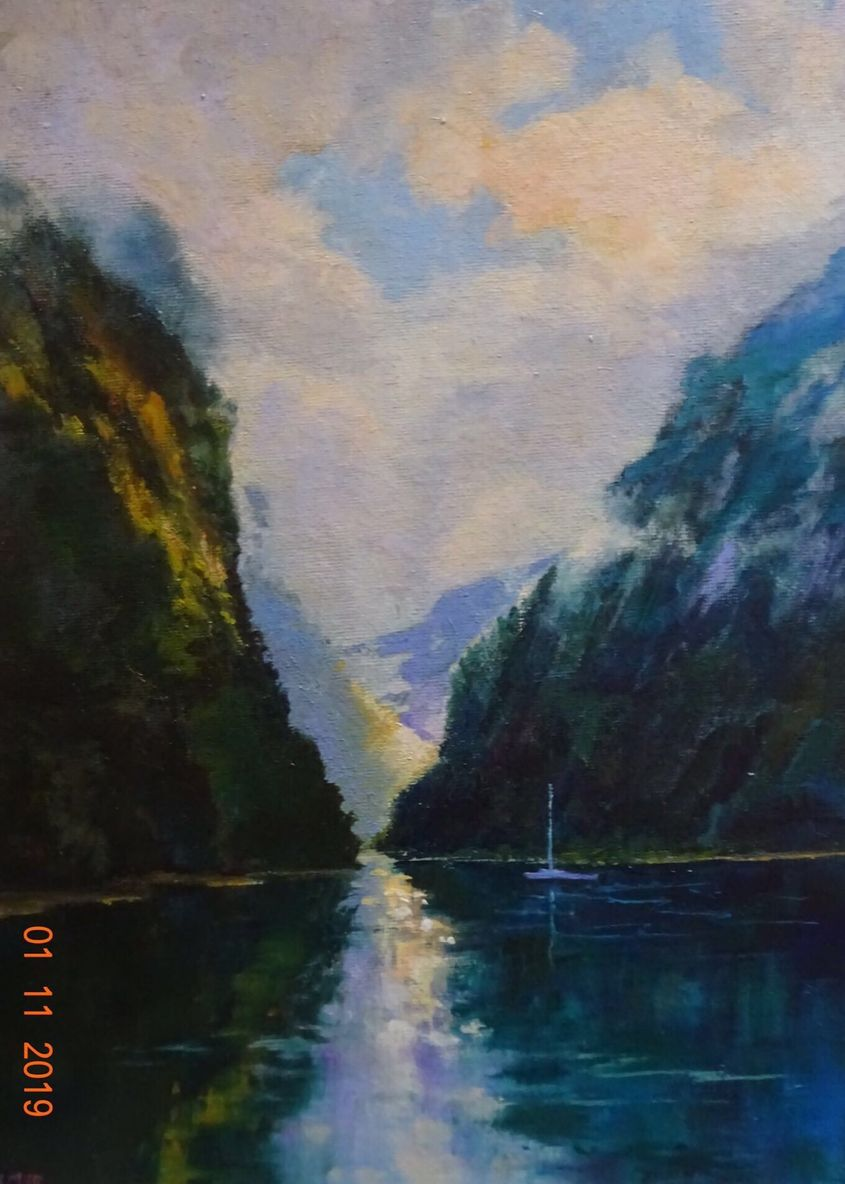 Quiet morning on Doubtful Sound. SOLD