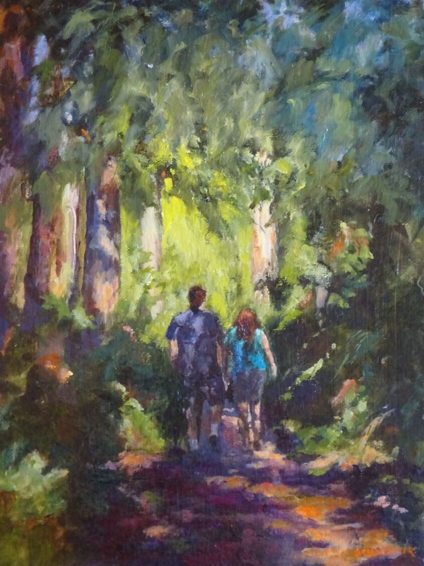 A walk through the Eucalyptus Trees