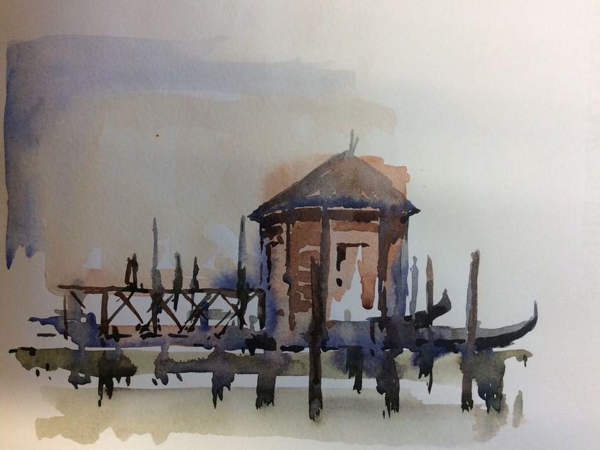 Venetian Boathouse. SOLD