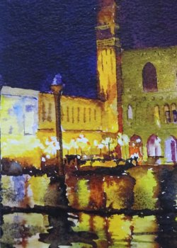 Venice by night SOLD