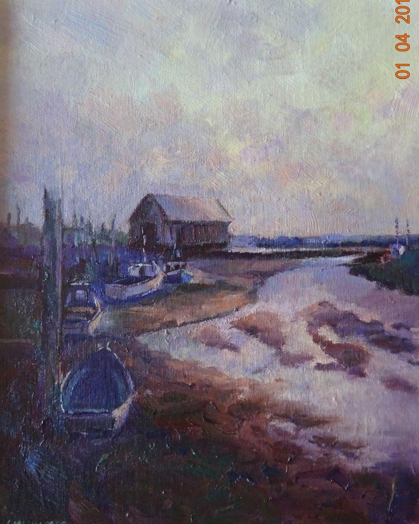 Half Light on the Boatshed