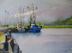 Fishing Fleet at Kings Lynn. SOLD