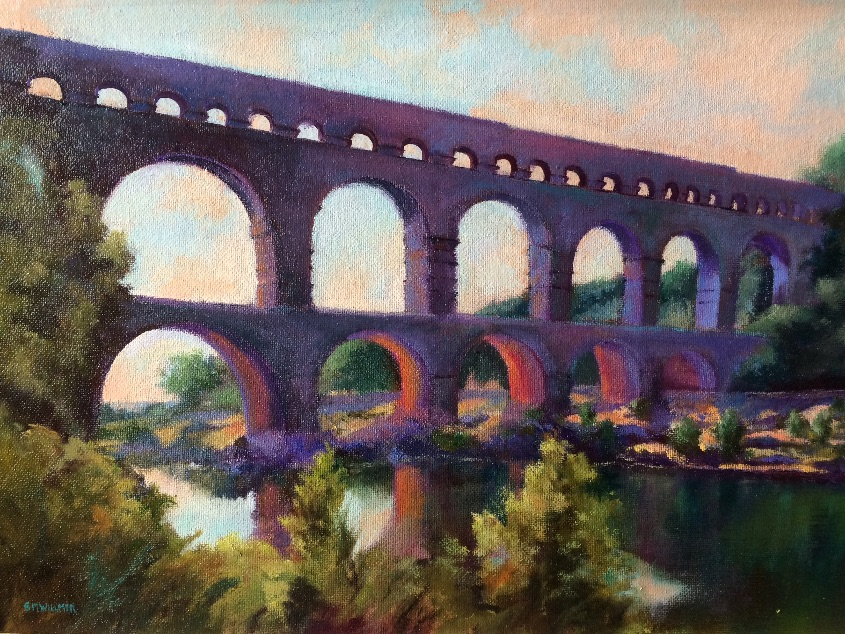 Early morning Pont du Garde SOLD