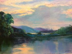 Evening Light on the Rhone SOLD