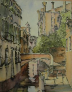 Venice behind the Grand Canal    SOLD