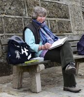 Me, sketching in Yorkshire