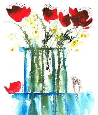 Poppies in a vase 001