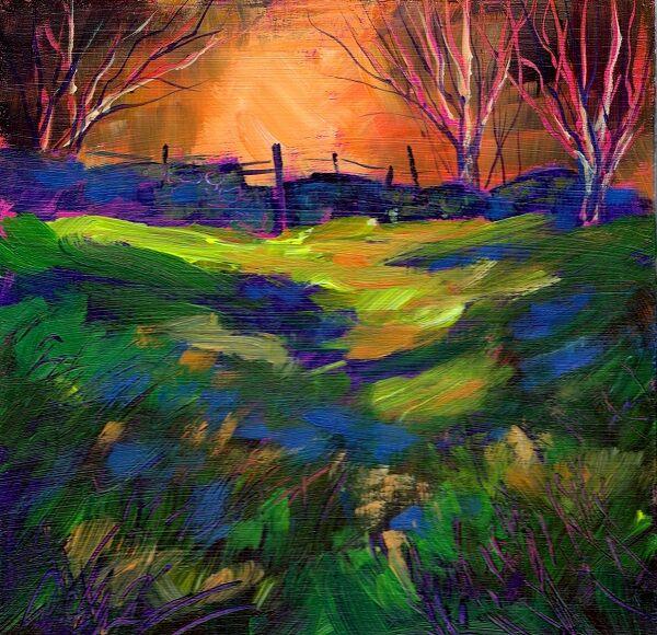 Woodland path, acrylic