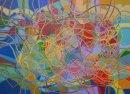 "Automatism #1    Acrylic on canvas 106x147cm/42x58"" 2011"