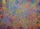 "Automatism #2 Acrylic on canvas 106x147/42x58"" 2011-12"