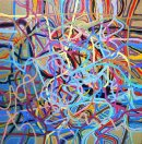 Small acrylic automatism, acrylic on canvas 30x30cm 2011