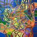 Small acrylic automatism, acrylic on canvas, 40x40cm 2011