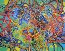 Caren D'ache crayon and acrylic on paper, April 2014 42x54cm