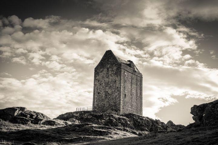 Smailholm Tower - creamtone