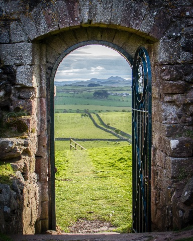 Through the Archway - Hume Castle