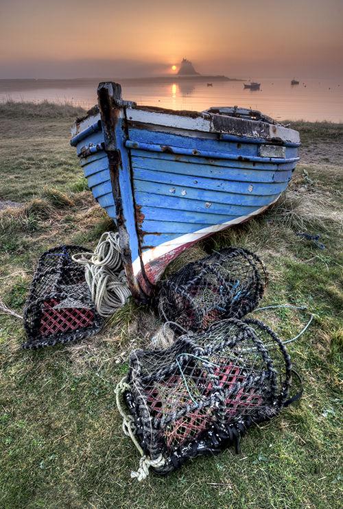 Dawn Mist Holy Island