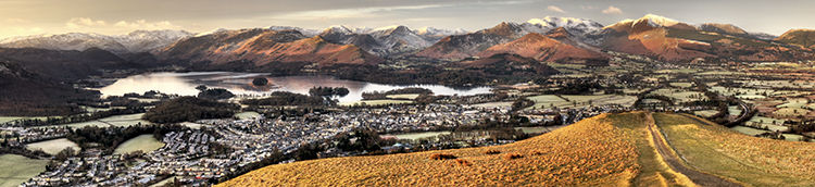 Keswick & Derwent Water from Latrigg