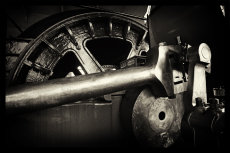 Coal mine winding engine detail.