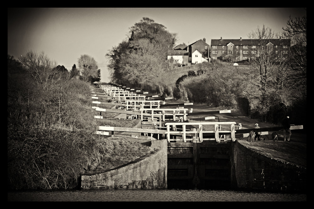 Caen Hill locks, Devizes.