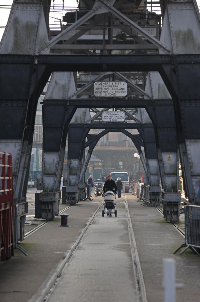On the rails, Bristol Docks.