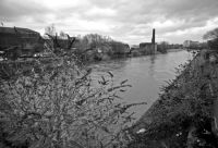River Irwell in spate.