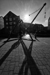 Piccadilly Village crane.