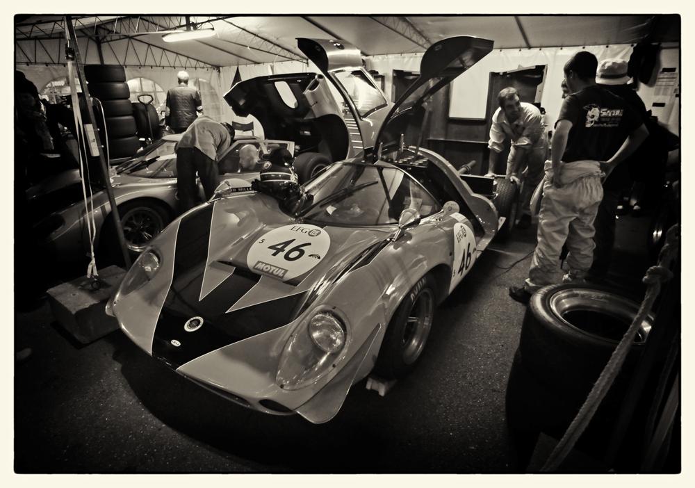 Lola T70 paddock
