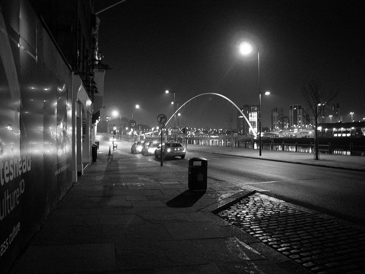 Newcastle quayside.
