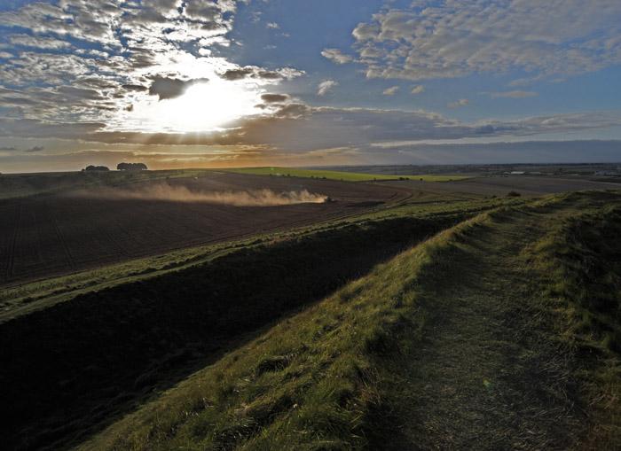 Harvest time at Barbury Castle